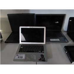 3 ASSORTED LAPTOPS FOR PARTS & REPAIRS (MACBOOK AIR, SONY LAPTOP, MSI LAPTOP)