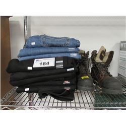 NEW LEVI 30X32 JEANS & 34X34 JEANS, T-MAX WORK BOOTS SIZE 10.5