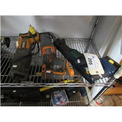 RIDGID RECIPROCATING SAW & MASTERCRAFT RECIPROCATING SAW