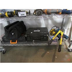 "TOOL BAG, TOOL CASE, PELICAN HARD CASE, BOLT CUTTERS, RYOBI DRILL, 1/4"" ROUTER, ETC"