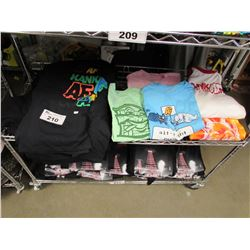 SHELF LOT OF ASSORTED NEW SHIRTS