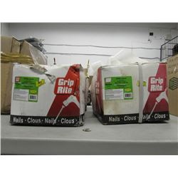 "2 BOXES OF GRIP RITE SPIRAL SHANK 8D 2-1/2"" SPIRAL NAILS"