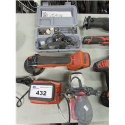 SKIL PRESSURE CONTROL SANDER, HILTI AG 500-A18 GRINDER, DREMEL MULTI PRO KIT