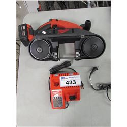 MILWAUKEE BANDSAW WITH BATTERY & CHARGER