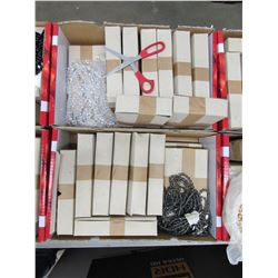 2 BOXES OF APPROX 240 GLASS BEADED NECKLACES MADE IN CZECHOSLOVAKIA