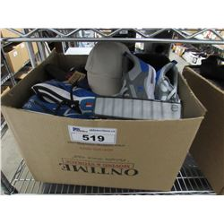BOX OF ASSORTED CLOTHINGS & SHOES