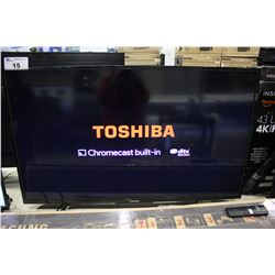 "50"" TOSHIBA 4K UHD HDR LED TV (MODEL 50L711U18)"