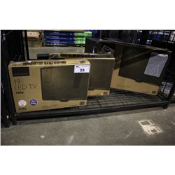 """24"""" INSIGNIA LCD-LED TV AND PAIR OF 19"""" INSIGNIA LCD-LED TVS"""