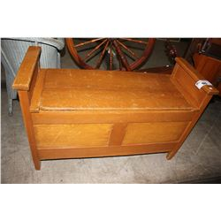 ANTIQUE HOPE CHEST BENCH