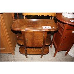 ANTIQUE WALNUT SMOKERS TABLE