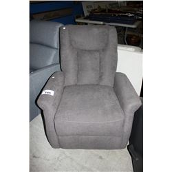 GREY RECLINING CHAIR *MISSING CORD*