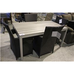 OUTDOOR PATIO SET INCLUDING TABLE WITH 4 CHAIRS