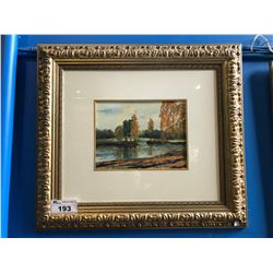 FRAMED WATERCOLOUR SIGNED BOTTOM RIGHT, AUTUMN DAY