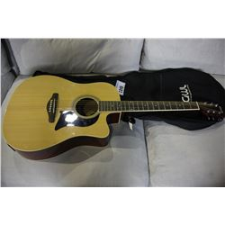 GEORGE WASHBURN ELECTRIC ACOUSTIC GUITAR (MODEL GWLG2CECPAKN) WITH GIG BAG