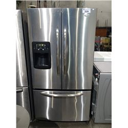STAINLESS STEEL 36  MAYTAG FRENCH DOOR FRIDGE WITH BOTTOM FREEZER AND WATER & ICE