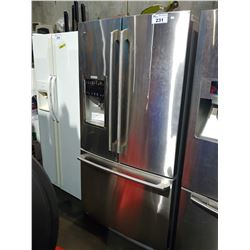 "STAINLESS STEEL 36"" ELECTROLUX FRENCH DOOR FRIDGE WITH BOTTOM FREEZER AND WATER & ICE"