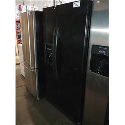 """BLACK 36"""" KENMORE FRENCH DOOR FRIDGE/FREEZER WITH WATER & ICE"""