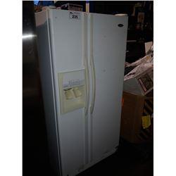 WHITE 33  WHIRLPOOL FRENCH DOOR FRIDGE/FREEZER WITH WATER & ICE