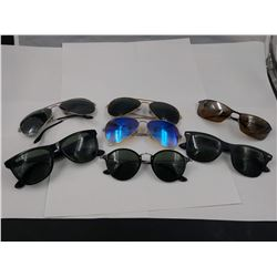 7 PAIRS OF AUTHENTIC RAY-BAN SUNGLASSES