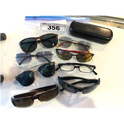 8 ASSORTED PAIRS OF GLASSES WITH ONE CASE