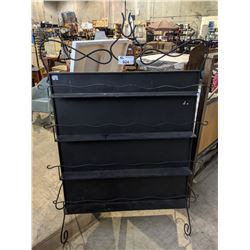 2-SIDED BLACK METAL RACK