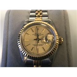 LADIES ROLEX OYSTER PERPETUAL DATEJUST WRISTWATCH - APPRAISED VALUE - $10450.00