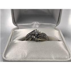 LADIES 14K WHITE GOLD 3 RING SET CONTAINING 31 DIAMONDS - APPRAISED VALUE $6010.00
