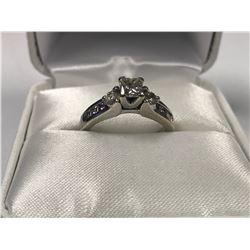 LADIES 14K WHITE GOLD 9  DIAMOND RING - APPRAISED VALUE $5635.00