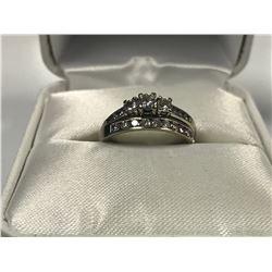 LADIES 10K & 14K WHITE GOLD 20 DIAMOND RING SET - APPRAISED VALUE $5240.00