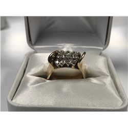 LADIES 14K WHITE & YELLOW GOLD 11 DIAMOND RING  - APPRAISED VALUE $5225.00