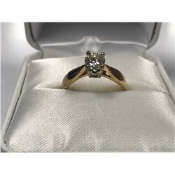 LADIES 14K WHITE & YELLOW GOLD  DIAMOND SOLITAIRE RING  - APPRAISED VALUE $4880.00