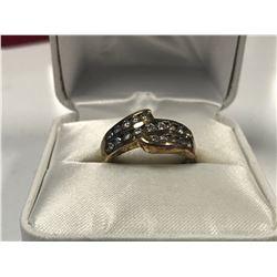 LADIES 18K YELLOW GOLD 19 DIAMOND RING  - APPRAISED VALUE $4820.00