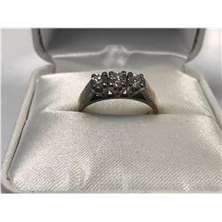 LADIES 14K WHITE & YELLOW GOLD 3 DIAMOND RING  - APPRAISED VALUE $4550.00