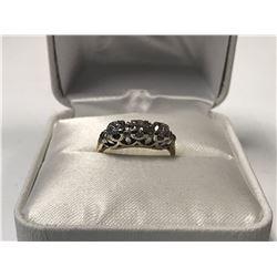LADIES 14K WHITE & YELLOW GOLD 5 DIAMOND RING  - APPRAISED VALUE $4460.00