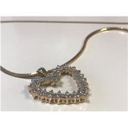LADIES 10K YELLOW GOLD 5 NECKLACE CONTAINING 65 DIAMONDS  - APPRAISED VALUE $3720.00