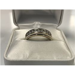 LADIES 14K WHITE GOLD RING CONTAINING 10 DIAMONDS  - APPRAISED VALUE $2960.00