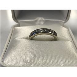 LADIES 18K WHITE GOLD RING CONTAINING 14 DIAMONDS  - APPRAISED VALUE $2905.00