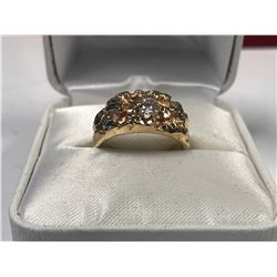 UNISEX 10K YELLOW GOLD DIAMOND SOLITAIRE RING - APPRAISED VALUE $2440.00