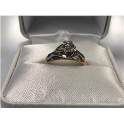LADIES 14K WHITE & YELLOW GOLD 3 DIAMOND RING - APPRAISED VALUE $2400.00