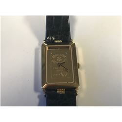 LADIES YELLOW GOLD PLATED & 24K GOLD WRISTWATCH - APPRAISED VALUE $475.00