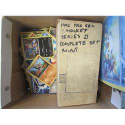 BOX OF POKEMON CARDS & 1990S HOCKEY CARDS