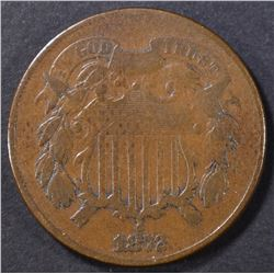 1872 2 CENT PIECE VG