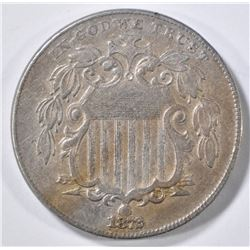 1872 SHIELD NICKEL XF/AU