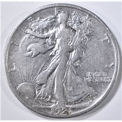 1921-S WALKING LIBERTY HALF VF