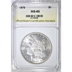 1879 MORGAN DOLLAR, OBCS GEM BU