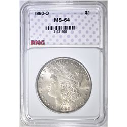 1880-O MORGAN DOLLAR, RNG CH/GEM