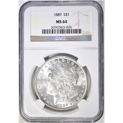 1889 MORGAN DOLLAR NGC MS-64