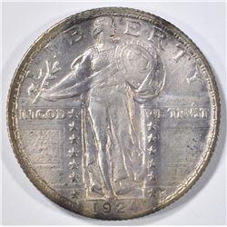 1924 STANDING LIBERTY QUARTER AU