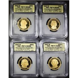 20007-S PRESIDENTIAL DOLLAR SET ALL ICG PR-70 DCAM