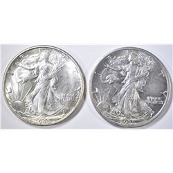 1935 & 45-S WALKING LIBERTY HALF DOLLARS  CH BU